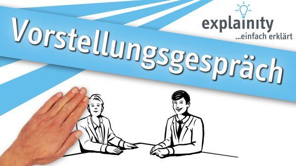 Vorstellungsgespräch einfach erklärt: explainity Erklärvideo des explainity education-projects